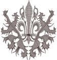 heraldry embroidery vector image vector image