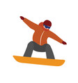 isometric isolated man snowboarder urban vector image
