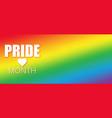 lgbt pride month in june vector image