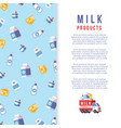 milk production poster template - farm dairy vector image vector image