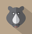 Modern Flat Design Rhino Icon vector image