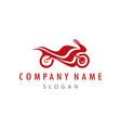 motorcycle racing logo vector image