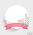 Notepaper with Floral bouquets and ribbon vector image vector image
