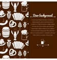Oktoberfest monochrome background vector image vector image