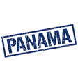 Panama blue square stamp vector image vector image