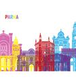 Parma skyline pop vector image vector image