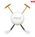 polo game mallet vector image