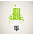 power saving green 2 vector image vector image