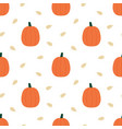 pumpkins and seeds seamless pattern background vector image vector image