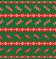 red and green striped pattern of christmas candies vector image vector image