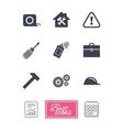 Repair construction icons Helmet screwdriver vector image vector image