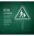 School warning sign vector image