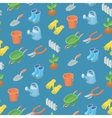 Seamless pattern from garden tools vector image
