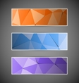 Set of colorful abstract triangular polygonal vector image