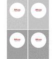 Set of Halftone Black Dots Backgrounds vector image vector image