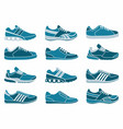set of icons of sports shoes vector image vector image
