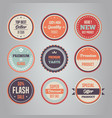 set of sales vintage style retro emblem ima vector image