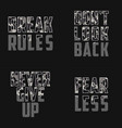 set slogans with camouflage texture for t vector image vector image