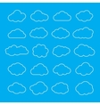 set thin line clouds icons cloud shapes vector image