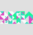simple banner square modules vector image vector image