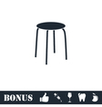 Stool icon flat vector image vector image