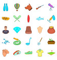 theatrical hobby icons set cartoon style vector image vector image