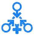 triple penetration sex grunge icon vector image vector image