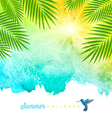 Tropical summer watercolor background vector image vector image