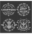 Vintage motorcycle labels badges and design vector image vector image