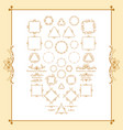 vintage syle calligraphic set borders vector image