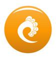 wave ocean icon orange vector image vector image