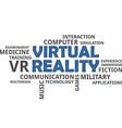 word cloud virtual reality vector image vector image
