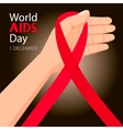 World AIDS Day 1st December vector image vector image