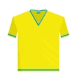 Yellow sports shirt icon cartoon style vector image vector image