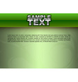 template green stripe text vector image