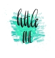 Dream big little one - kids nursery art vector image