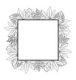 leaves frame background vector image