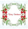 Background with Christmas decoration vector image vector image