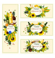 banners for vegetable natural oil vector image vector image