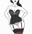 beautiful female body in elegant underwear vector image vector image