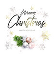 black inscription and christmas wreath vector image vector image
