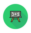 Blackboard icon on round background