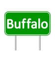 Buffalo green road sign vector image vector image