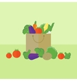 Card with vegetables in flat style vector image vector image