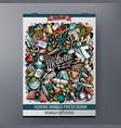 cartoon colorful hand drawn doodles medicine vector image vector image
