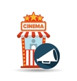 cinema movie ticket office speaker graphic vector image vector image