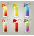cocktail collection vector image