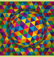 colored spherical 3d background pattern geometric vector image vector image