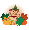 colourfull background for thanksgiving day vector image