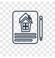 contract concept linear icon isolated on vector image